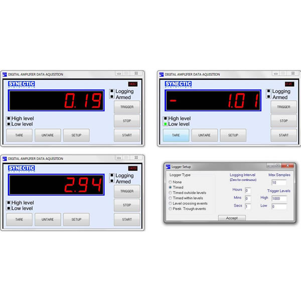 Stream Data Logger : Load cell amplifier data logger on board logging or